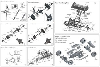 Monster 4x4 1:10 Brontosaurus   HSP a 2.4 GHz. Camión azul-negro-18