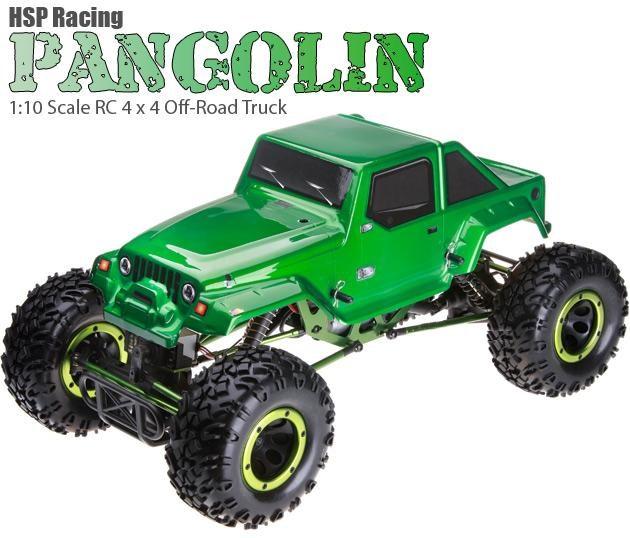 Crawler HSP 1:10 Pangolin 4 ruedas direccionales Jeep Verde-0
