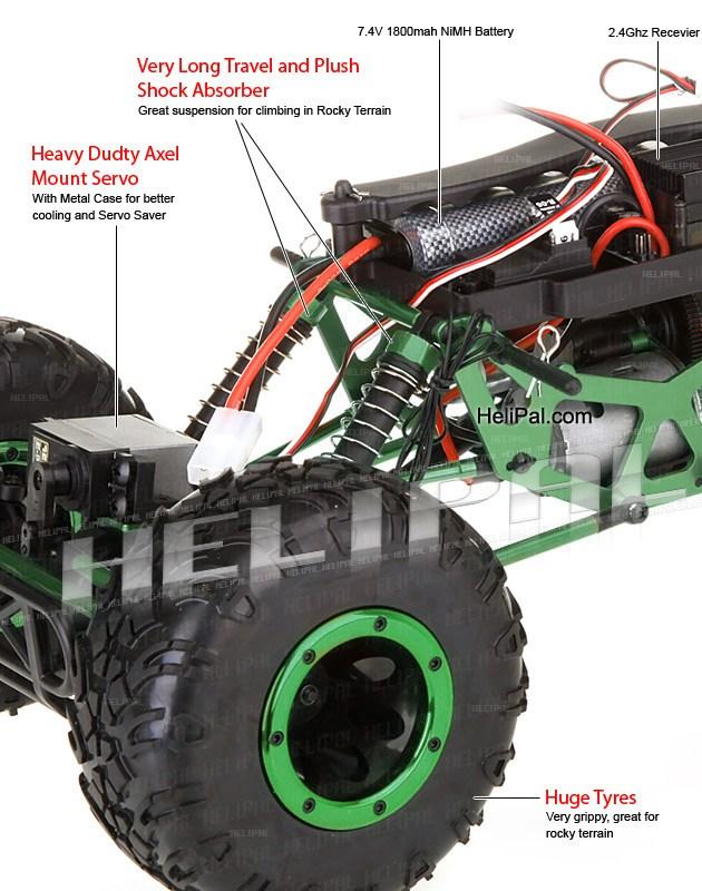 Crawler HSP 1:10 Pangolin 4 rueda direccionales Sport VERDE-14