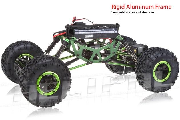 Crawler HSP 1:10 Pangolin 4 ruedas direccionales Jeep Verde-4