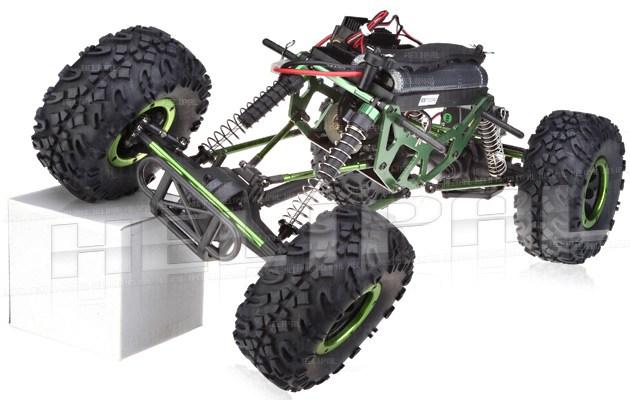 Crawler HSP 1:10 Pangolin 4 ruedas direccionales Jeep Verde-5