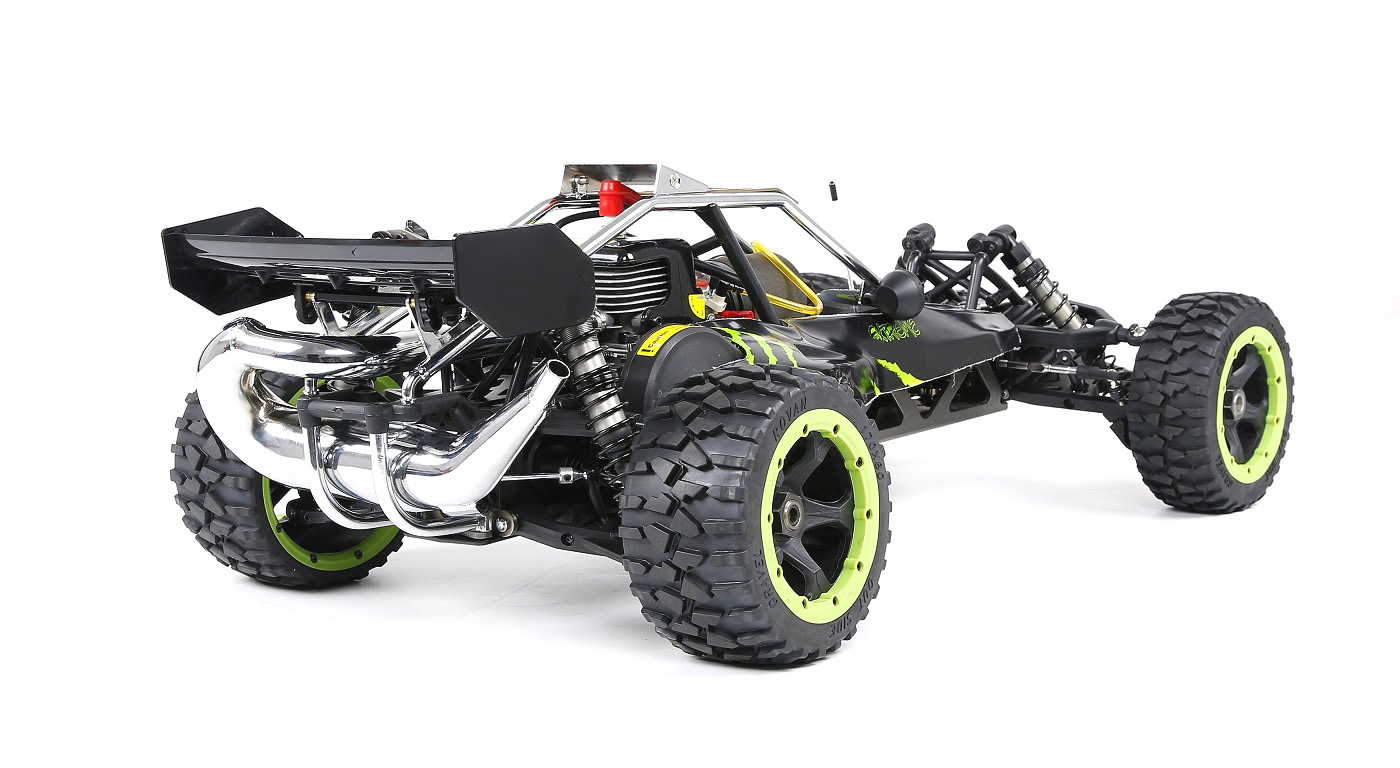 Rovan Sports 5B buggy 1/5 versión Aluminio emisora 30,5CC 4bolt motor emisora FS-GT3C-1