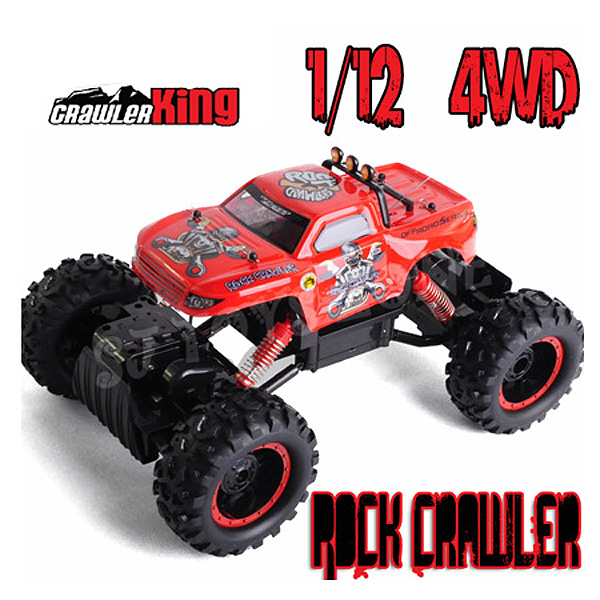 Rock Crawler escalador 1:12 radio control 4WD05 COLOR ROJO-0
