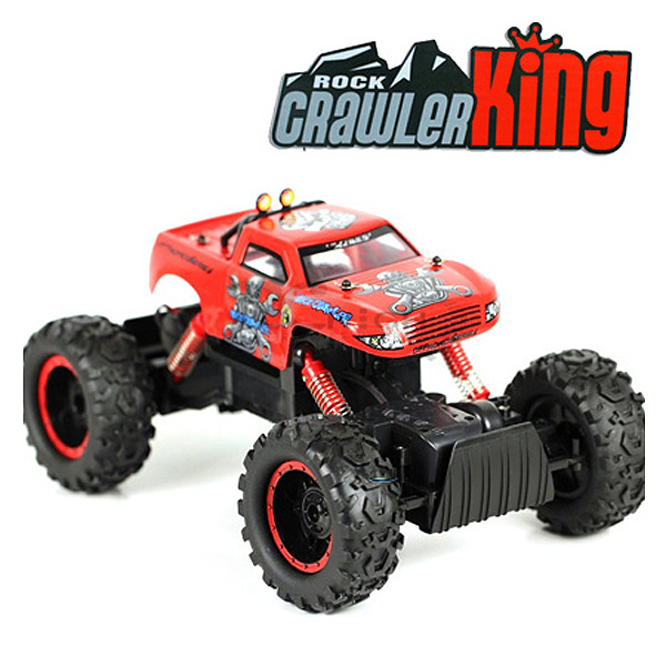 Rock Crawler escalador 1:12 radio control 4WD05 COLOR ROJO-1