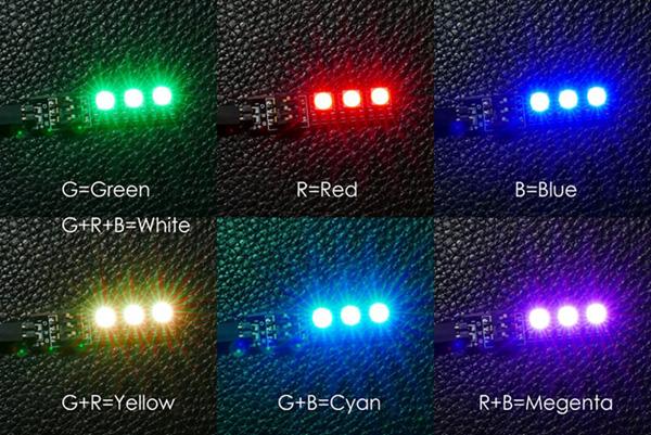 Tira luces LED colores selecionables para drones RGB 5050 12v