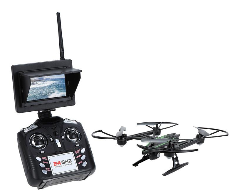 Dron JXD 510G camara 2MP con monitor y sistema FPV 5.8G