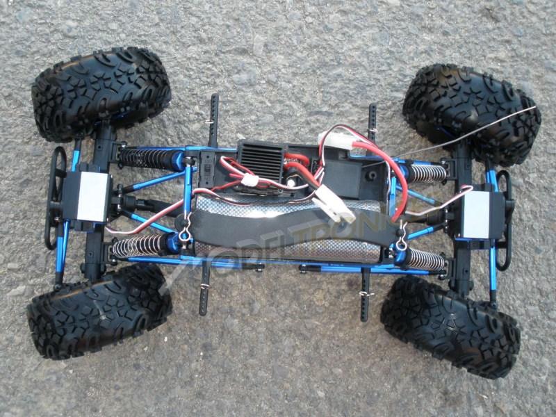 Crawler HSP 1:10 Pangolin 4 ruedas direccionales AZUL CAMION-6