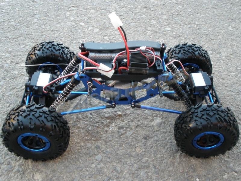 Crawler HSP 1:10 Pangolin 4 ruedas direccionales AZUL CAMION-5