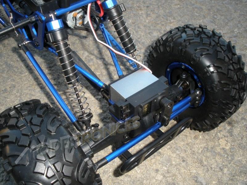Crawler HSP 1:10 Pangolin 4 ruedas direccionales AZUL CAMION-9