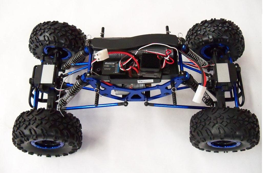 Crawler HSP 1:10 Pangolin 4 ruedas direccionales ROJO CAMION-6