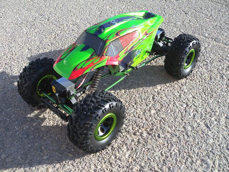 Crawler HSP 1:10 Pangolin 4 rueda direccionales Sport VERDE-0