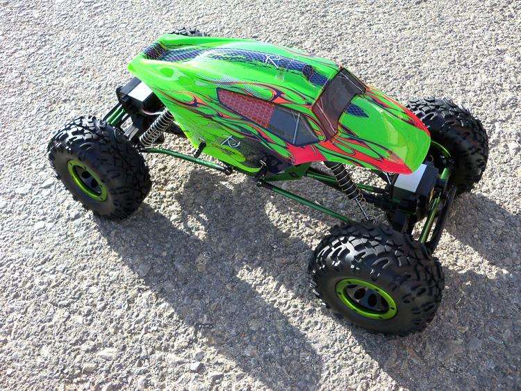 Crawler HSP 1:10 Pangolin 4 rueda direccionales Sport VERDE-2