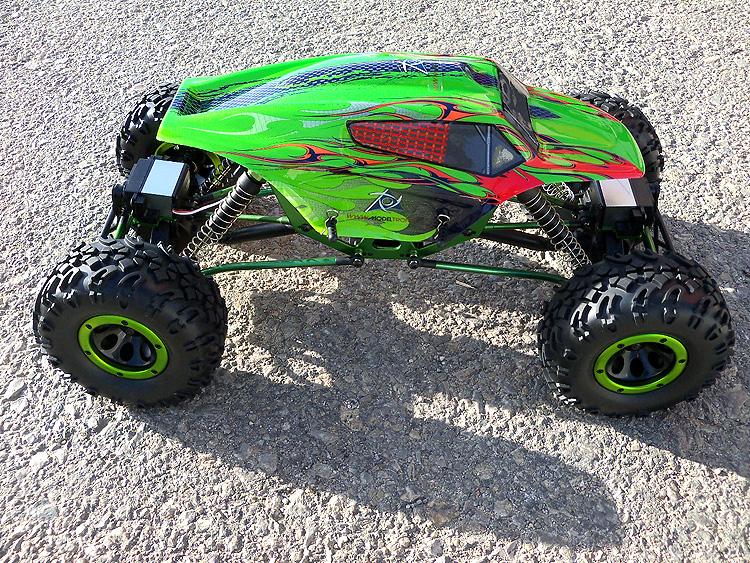 Crawler HSP 1:10 Pangolin 4 rueda direccionales Sport VERDE-1