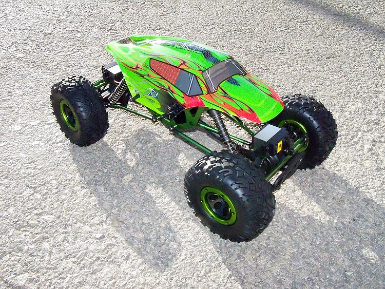 Crawler HSP 1:10 Pangolin 4 rueda direccionales Sport VERDE-4