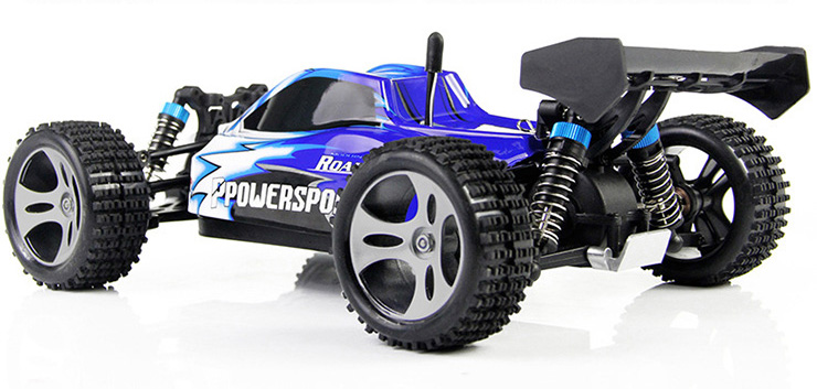 Monster 4x4 1:10 Brontosaurus HSP a 2.4 GHz. Camión azul-negro-8