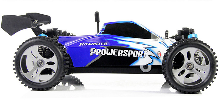Monster 4x4 1:10 Brontosaurus HSP a 2.4 GHz. Camión azul-negro-9