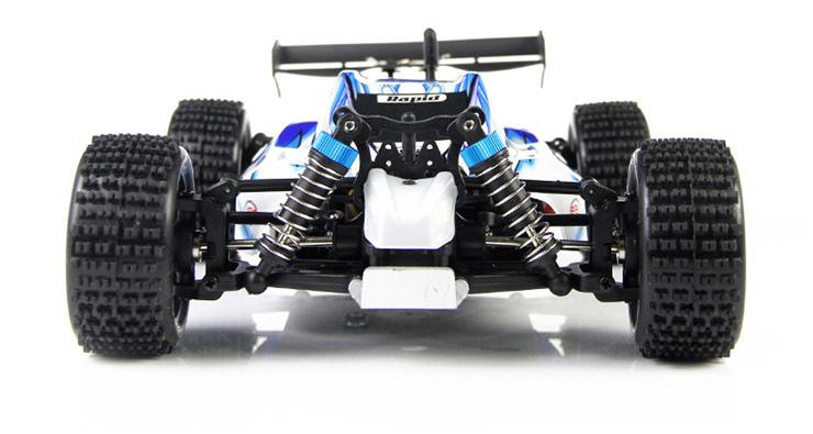 Monster 4x4 1:10 Brontosaurus HSP a 2.4 GHz. Camión azul-negro-10