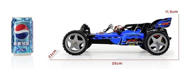 L959 WLtoys coche buggy 1:12 con batería LIPO y emisora 2.4GHZ AZUL-11