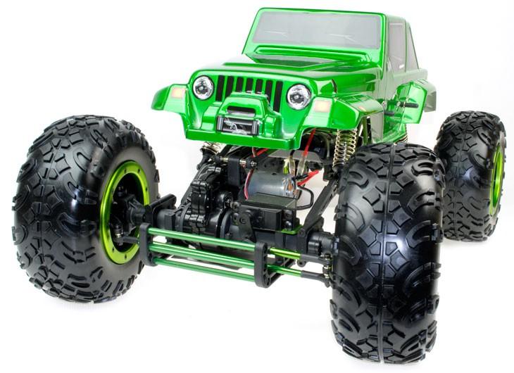 Escalador 1:8 HSP CLIMBER emisora 3ch con 2 servos Jeep Verde