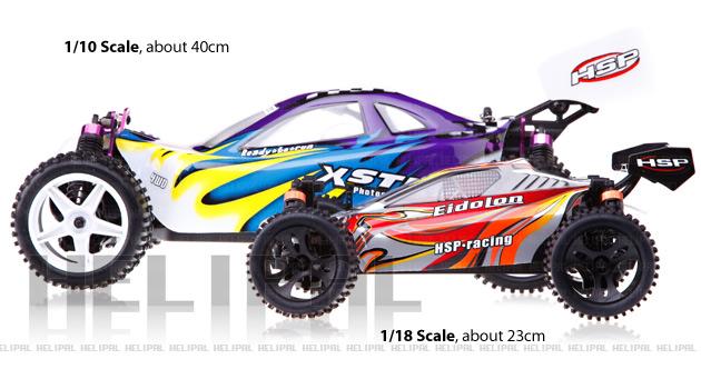 Mini Buggy 4x4 eléctrico HSP 1:18 Eidolon RTR 2.4 GHz. AZUL-1