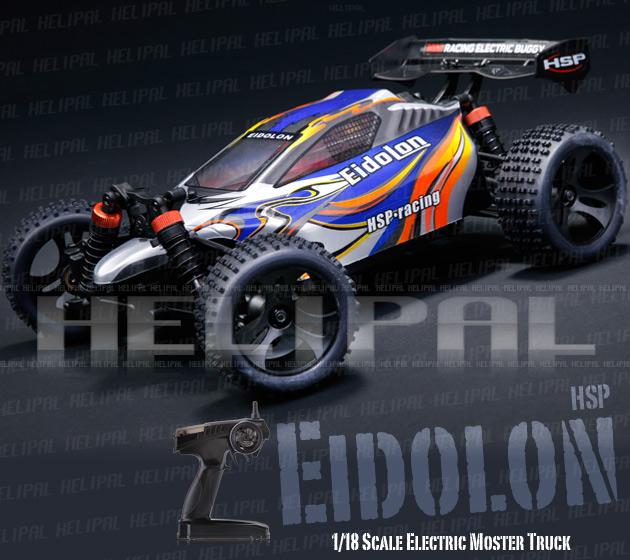 Mini Buggy 4x4 eléctrico HSP 1:18 Eidolon RTR 2.4 GHz. AZUL-0