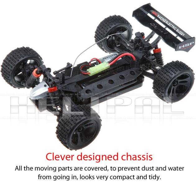 Mini Buggy 4x4 eléctrico HSP 1:18 Eidolon RTR 2.4 GHz. AZUL-5