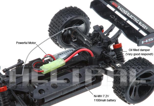 Mini Buggy 4x4 eléctrico HSP 1:18 Eidolon RTR 2.4 GHz. AZUL-6