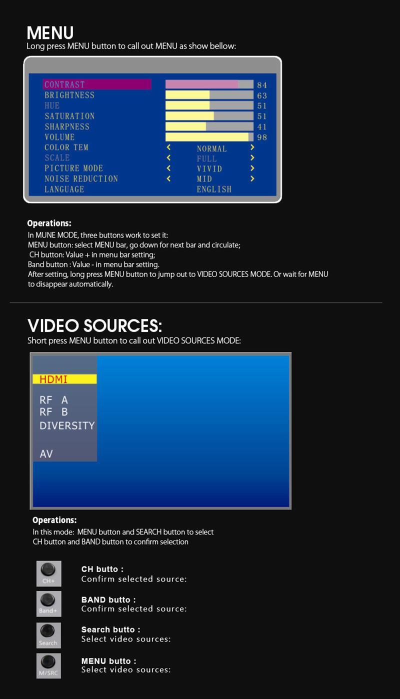 Gafas FPV Eachine VR D2 Raceband 5.8G Diversity con Ajustable