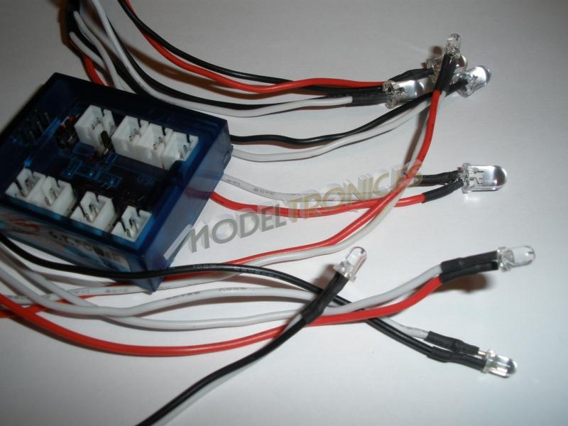 Sistema de luces LED's para el coche radio control-1