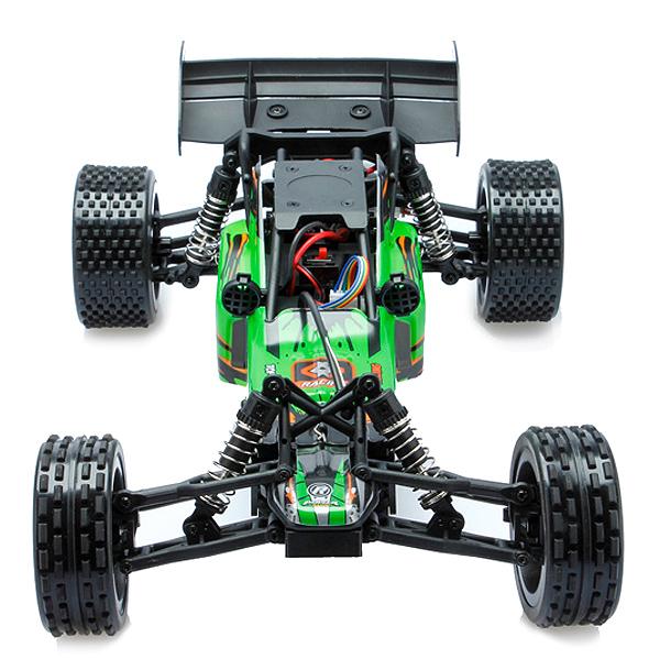 L959 WLtoys coche buggy 1:12 con batería LIPO y emisora 2.4GHz. VERDE-0