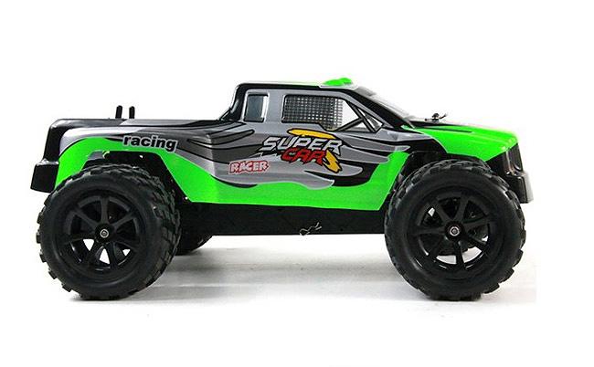L969 WLtoys coche Monster 1:12 con batería LIPO y 2.4GHZ VERDE