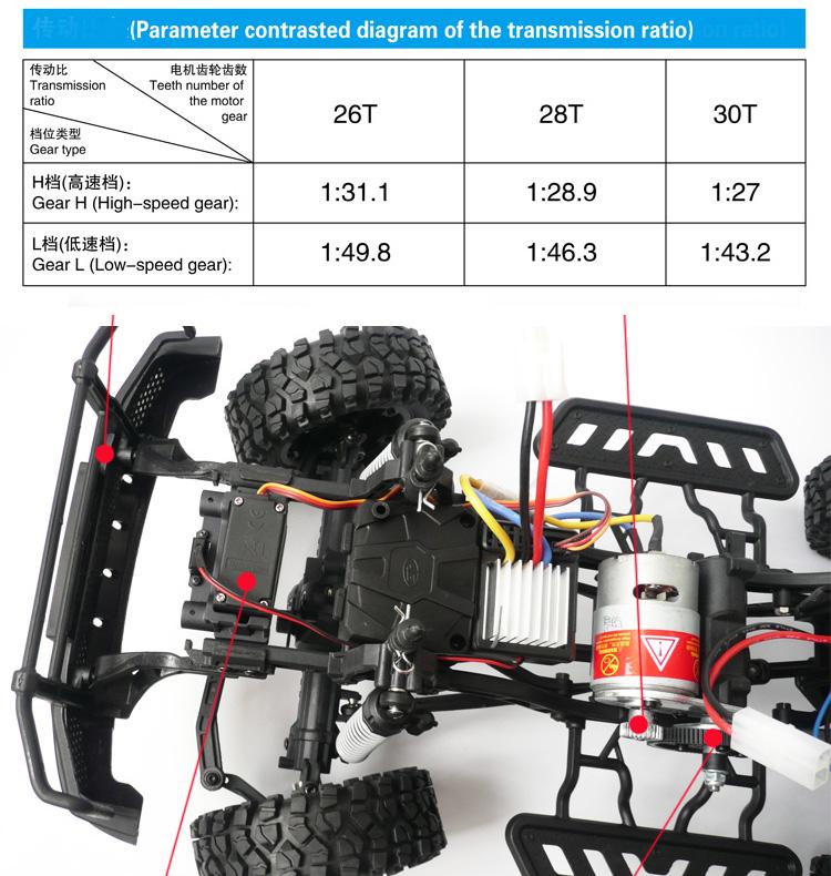 JEEP 4x4 electrico travesias 1:10 en 2.4 GHz.-10