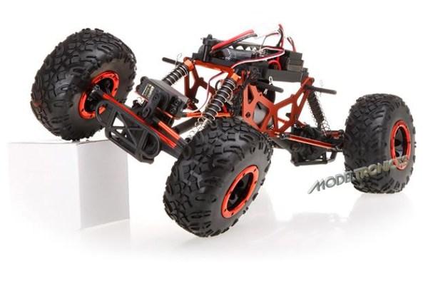 Crawler HSP 1:10 Pangolin 4 ruedas direccionales AZUL CAMION-11