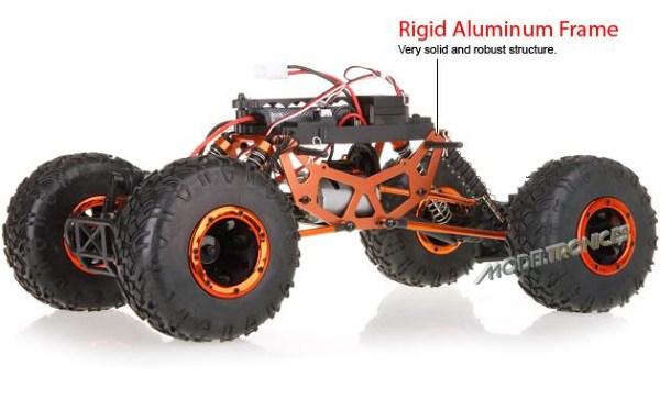 Crawler HSP 1:10 Pangolin 4 ruedas direccionales AZUL CAMION-13
