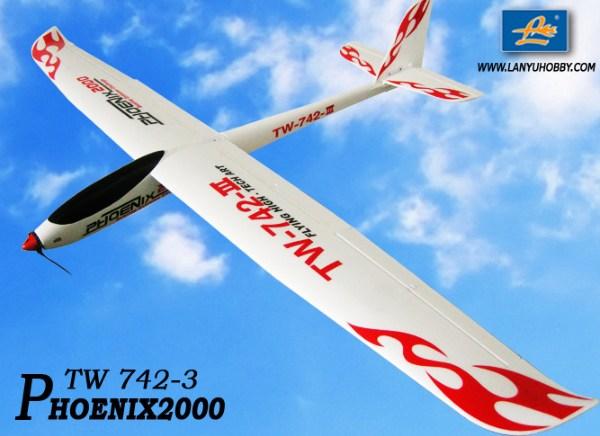 Motovelero Phoenix 2000 brushless 2.4 GHz. 5ch RTF TW-742-3