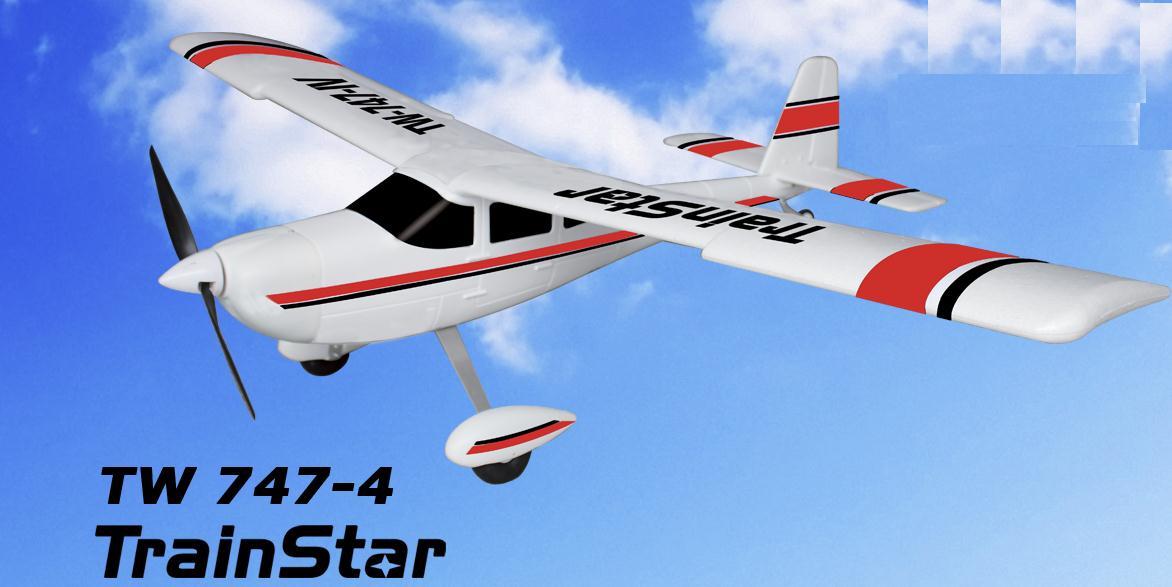 Avión entrenador gigante 1400mm TRAINSTAR RTF 2.4Ghz ROJO-0