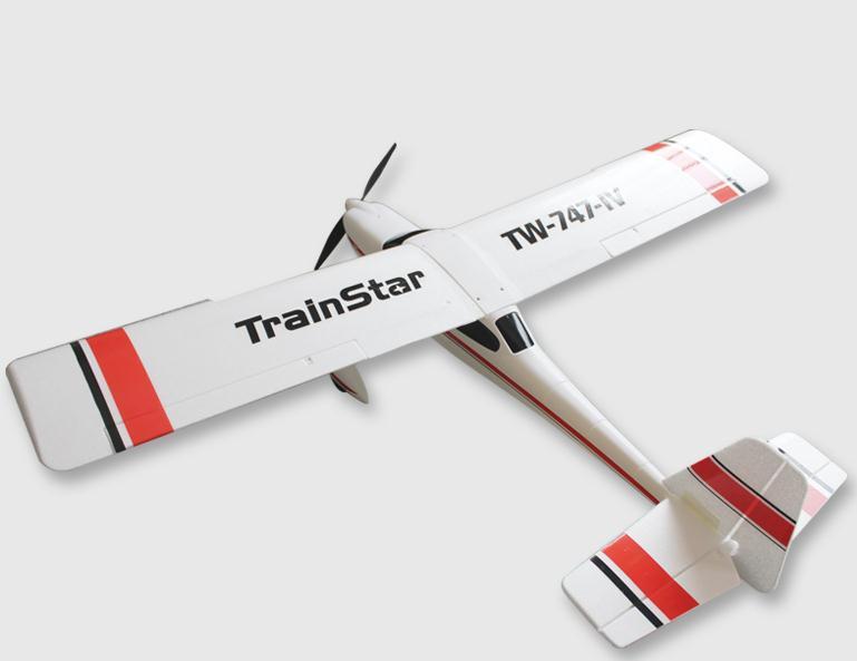 Avión entrenador gigante 1400mm TRAINSTAR RTF 2.4Ghz ROJO-2