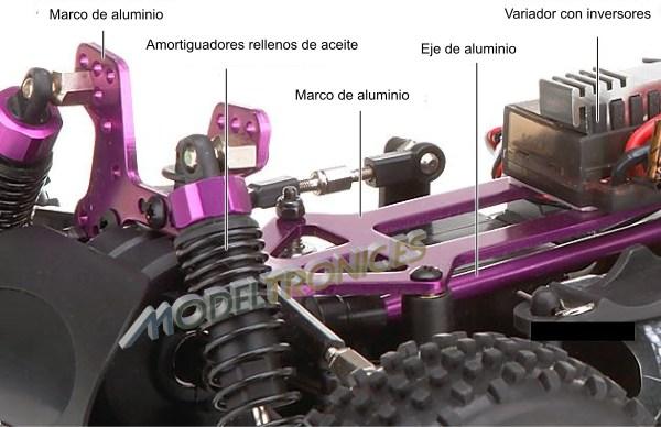 Buggy eléctrico 1:10 XSTR de HSP en 2.4Ghz Verde-4