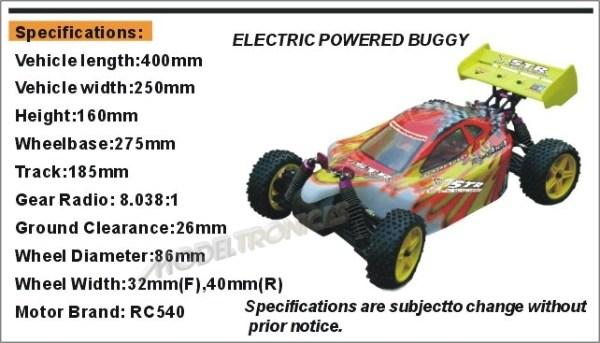 Buggy eléctrico 1:10 XSTR de HSP en 2.4Ghz Verde-12