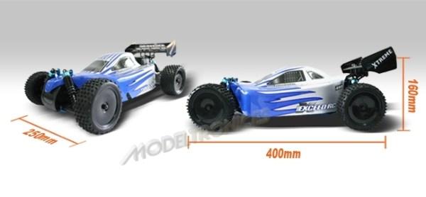 Buggy eléctrico 1:10 XSTR de HSP en 2.4Ghz Verde-13