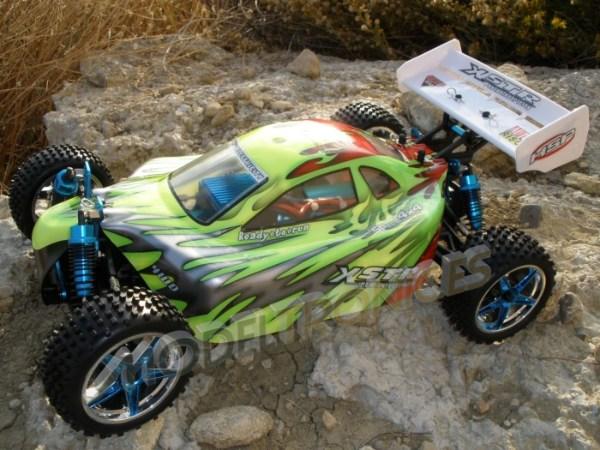 Buggy eléctrico 1:10 XSTR de HSP en 2.4Ghz Verde-1