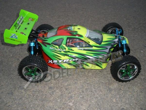 Buggy eléctrico 1:10 XSTR de HSP en 2.4Ghz Verde-2