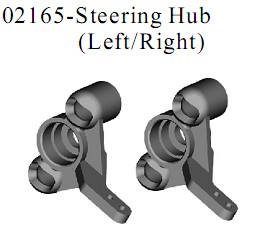02165 - Steering hub (left/right)
