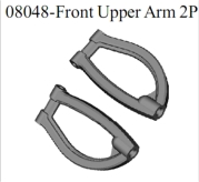 08048 - Front upper arm 2P