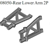 08050 - Rear lower arm 2P