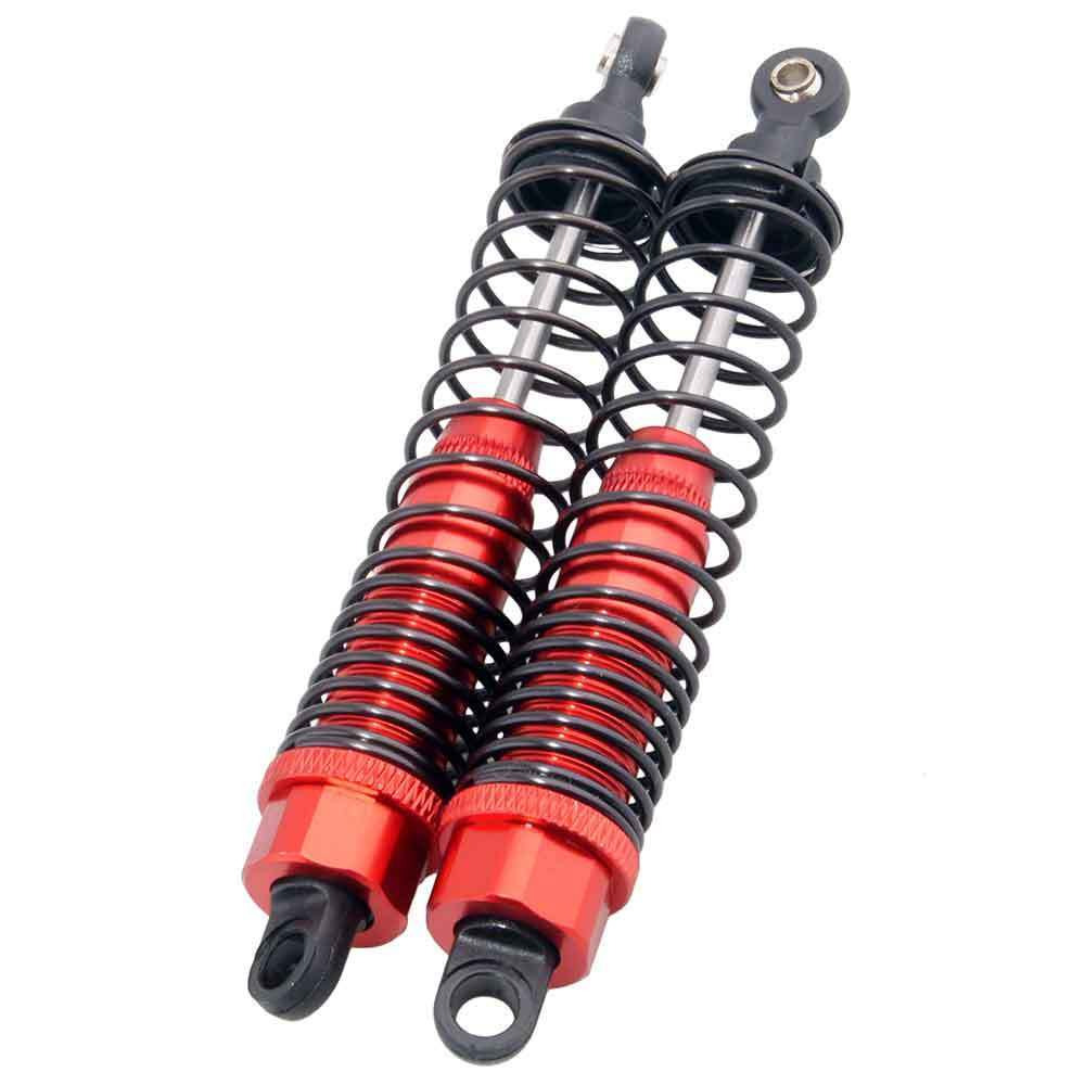 108004 Set 2 suspensiones aluminio mejora monster ROJO 100mm 08001