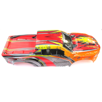 97292 - Carroceria truck monster 1:8 ROJO-NARANJA