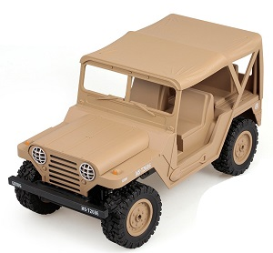 Coche RC Heng Long 3853C JEEP USM151 WILLYS 1:14 DESERT MILITAR 4X4 PROPORCIONAL subotech