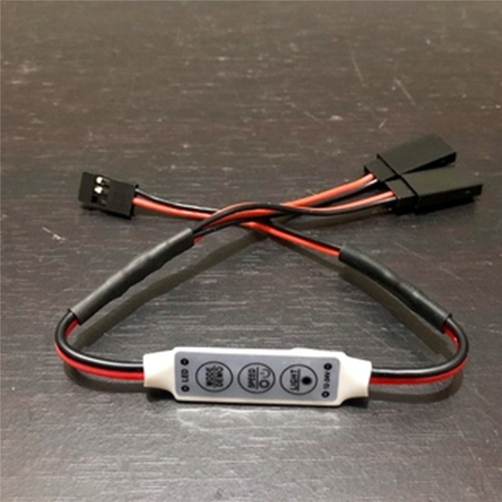 Interruptor manual de Luces LED para Crawlers 1/10 cochec RC buggy 1/5