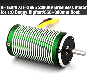Motor brushless coches 1/8 X-TEAM 3665 4 polos 2300KV Waterproof 2000W